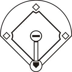 best baseball field clip art 4784 clipartion com templates rh pinterest com baseball diamond clipart images baseball field clipart