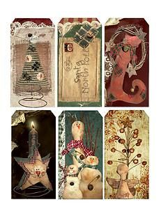 Scrapbook Christmas Gift Tags   ... :24 VINTAGE CHRISTMAS CHILDREN HANG / GIFT TAGS FOR SCRAPBOOK PAGES