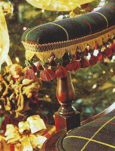 Tartan charm and tassels Tartan Decor, Tartan Plaid, Hygge, Tartan Christmas, Woodland Christmas, Victorian Christmas, English Country Style, English Decor, Textiles