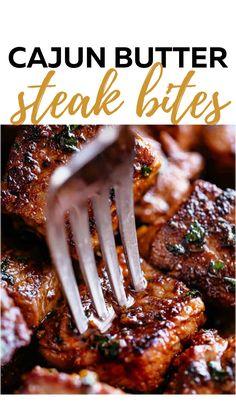 Beef Steak Recipes, Cajun Recipes, Great Recipes, Dinner Recipes, Cooking Recipes, Favorite Recipes, Beef Steaks, Delicious Recipes, Recipe Ideas