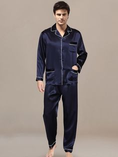 d776fbb60c silk pajamas  men ssilkpajamas Mens Silk Pajamas