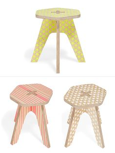 From Studio Delle Alpi, the designers of THE 5 BUDDIES StackableAnimals, comesThe Milk Stool— a useful little seat for kids. It's made of digitally cut plywood, silk screen printed and coate...