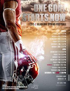 Alabama Spring Football is right around the corner.#Alabama #RollTide #BuiltByBama #Bama #BamaNation #CrimsonTide #RTR #Tide