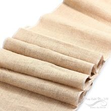2.75M Hessian Burlap Table Runner Roll Vintage Rustic Natural Wedding Decorations Natural Jute Rustic Burlap Table Runner(China (Mainland))