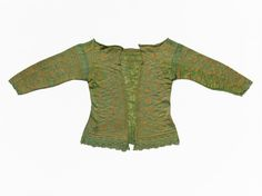 Woman's knitted jacket Unknown artist, Italian Woman's knitted jacket, 1630-50 Knitted silk and metal-wrapped thread 2014.19