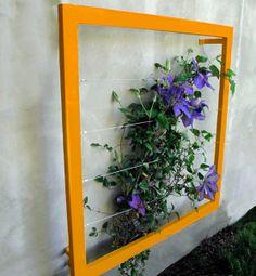 un treillis r cup 39 tasseaux et ficelles debrouil 39 home garden jardin pinterest. Black Bedroom Furniture Sets. Home Design Ideas