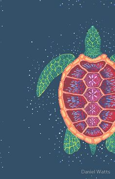 Cute Wallpapers Discover Sea Turtle iPhone Case by Daniel Watts Cute Wallpaper Backgrounds, Cute Wallpapers, Iphone Wallpaper, Sea Turtle Wallpaper, Turtle Background, Sea Turtle Art, Sea Turtle Painting, Aquarell Tattoos, Illustration Art