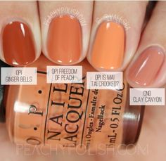 Fair skin tips nail polish OPI Freedom Of Peach Washington Collection Comparisons Peachy Polish Fall Acrylic Nails, Autumn Nails, Acrylic Nail Designs, Fall Toe Nails, Xmas Nails, Winter Nails, Spring Nails, Summer Nails, Peach Nail Polish