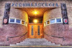 Entree van de Zeevaartschool in Den Helder Modern Entrance Door, Entrance Doors, Holland, Amsterdam, Sailor, How To Become, School, Den, Mansions