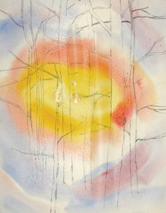 Creating a Backlit Watercolor Landscape on http://www.artistsnetwork.com Karolyn Holman tutorial