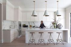 contemporary white marble kitchen