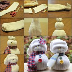 How to DIY Cute Sock Snowman | iCreativeIdeas.com Follow Us on Facebook --> https://www.facebook.com/icreativeideas