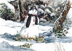 Frosty's Friend: painting William Mangum