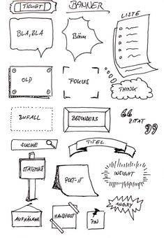 mOdeRaTioN - fLipCHaRts Sketchnote Rahmen, Banner und Textboxen 5 Warning Signs That Could Keep You Bullet Journal Banner, Bullet Journal Ideas Pages, Cute Notes, Good Notes, Design Web, Banner Design, Visual Note Taking, Web Banner, Plakat Design