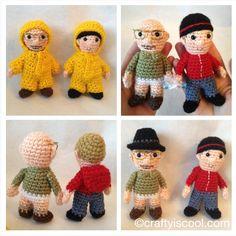 Breaking Bad crocheted dolls