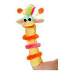 Art Wall Sock Friends Puppets Kit, Yellow Monster