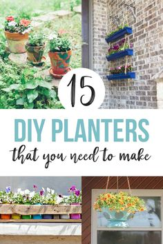 15 Creative Ideas for Plant Containers (Simple DIY Outdoor Planters) - Modern Organic Container Gardening, Container Plants, Plant Containers, Gardening Tips, Backyard Vegetable Gardens, Outdoor Gardens, Diy Planters Outdoor, Planter Ideas, Galvanized Planters