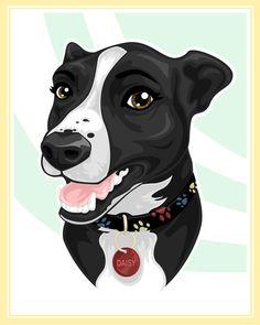 Stylized Pet Portrait - Daisy by pnutink on DeviantArt