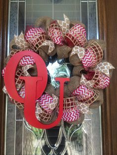 OU Wreath by TheWhimsyWreath on Etsy