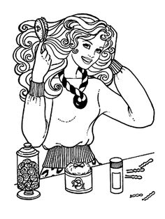 Barbie Coloring Pages, Colouring Pages, Blue Bedrooms, Ben 10, Coloring For Kids, Free Printable, Nostalgia, Stress, Embroidery