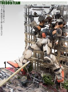 GUNDAM GUY: Mobile Suit Gundam The 08th Team Revenge '3 Vs. 1' - Diorama Build