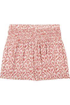 Etoile Isabel Marant                                  Hali printed cotton-voile shorts                              $300