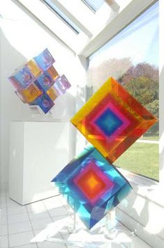 Artist Norman Mercer exemplified JUST IMAGINE with his Acrylic sculptures