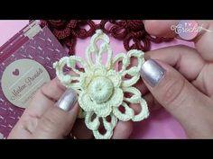 Flor de Crochê Irlandês Amarela - YouTube
