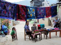Textile Display, Zinacantan, Chiapas, Mexico by Bencito the Traveller, via Flickr