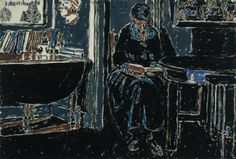 David B. Milne – Woman Reading, 23 April watercolour over graphite, x cm David Milne, Books To Read For Women, Canadian Painters, Inuit Art, Painting People, Woman Reading, Abstract Expressionism, American Art, Printmaking