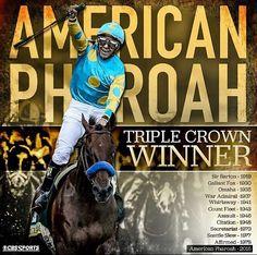 American Pharoah Belmont Stakes 2015 - TRIPLE CROWN