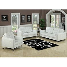 Megan Bonded Leather Loveseat