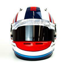 #helmade #helmetdesign for #kart #masters winner Daniel Gregor. #Tron #Scifi #inspired but super unique. #martiniracing #arai #sk6 #karting #helmetart #helmetpaint #custom #designyourown #bornfrommotorsports Design your own on www.helmade.com