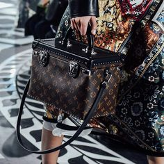 Monogram on the Louis Vuitton Women's Autumn-Winter 2016 runway. Collection by Nicolas Ghesquière.