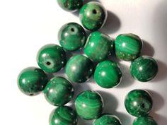 10 x Malachite Round Semi Precious Gemstone Beads for Jewellery Making Jewelry Making Beads, Jewellery Making, Semi Precious Gemstones, Malachite, Gemstone Beads, Board, How To Make, Ebay, Make Jewelry