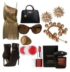 """Sem título #32"" by jacy-mariah on Polyvore featuring moda, Versace e Clinique"
