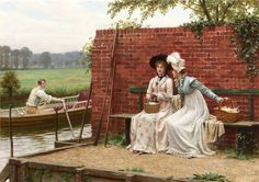 Should We Trust Him ~ Edmund Blair Leighton ~ (English: 1852-1922)