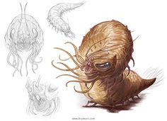 10 Best Carrion Crawlers Images Carrion Crawler Fantasy Monster