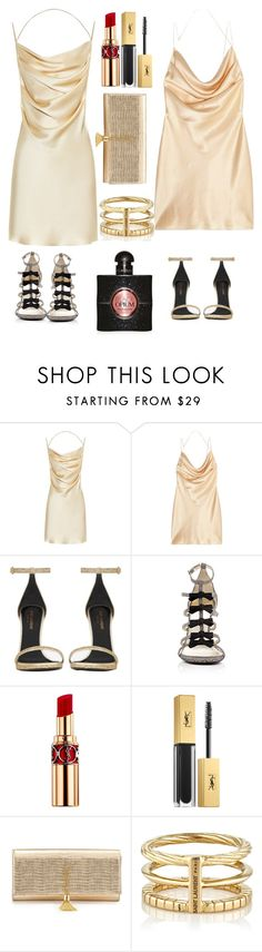 """""""How to wear Yves Saint Laurent silk dresses"""" by nadinehab ❤ liked on Polyvore featuring Yves Saint Laurent"""
