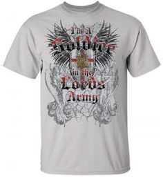 I'm A Soldier In the Lord's Army Shirt, Gray, Large  -