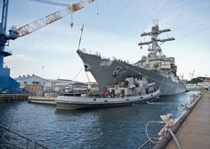 USS Lassen is guided out of dry-dock. by Official U.S. Navy Imagery, via Flickr -- @H A L E Y |  V A N  |  L I E W White