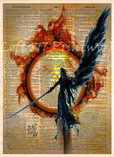 Final Fantasy VII Sephiroth, Advent Children, Final Fantasy VII, Videogame art print