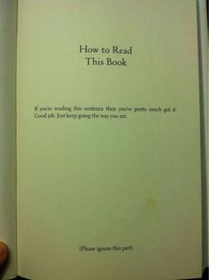 How to read this book. - #funny #lol #viralvids #funnypics #EarthPorn more at: http://www.smellifish.com