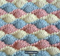 crochet stitches patterns Crochet Shell Stitch is a lovely stitch with lots of rich texture. Here are some beautiful Shell Stitch Crochet Free Patterns for you to get started. Crochet Afghans, Crochet Stitches Patterns, Tunisian Crochet, Crochet Motif, Baby Blanket Crochet, Crochet Designs, Crochet Baby, Free Crochet, Stitch Patterns
