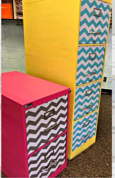 Sew Much Music- Filing cabinet makeover tutorial for your classroom! With chevrons! Looks like A LOT of work! Classroom Setting, Classroom Setup, Classroom Design, Music Classroom, School Classroom, Chevron Classroom, School Office, Future Classroom, Nurse Office