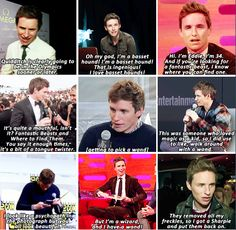 Eddie Redmayne - I read the [Harry Potter] books and I then started watching the films and it was just like the most wonderful escapism. When the films came out, I'd look forward to it so much, coupled with the fact that there was an entire family of gingers! And I never got an audition for it. I was bereft. When I heard they were making a new film, I was like: 'Please can I be a part of it?'