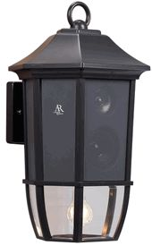 Acoustic Research AW851 Outdoor Wall Lantern and Wireless Speaker - Outdoor Speakers - Deck, Patio, Yard, Commercial - Wireless & Wired