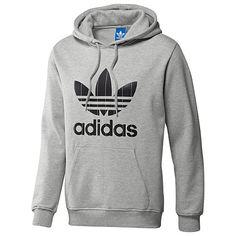 Men's adidas Originals Adi Pinstripe Trefoil Hoodie (Color – Grey Size – S)