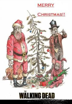 Merry Christmas from the walking dead...