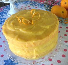 Fresh Orange cake from scratch...and not. Possibly THE best cake recipe I have!!